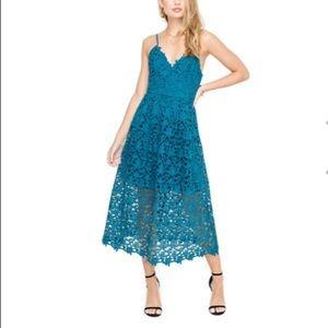 ASTR The Label Lace A Line MIDI Dress Medium